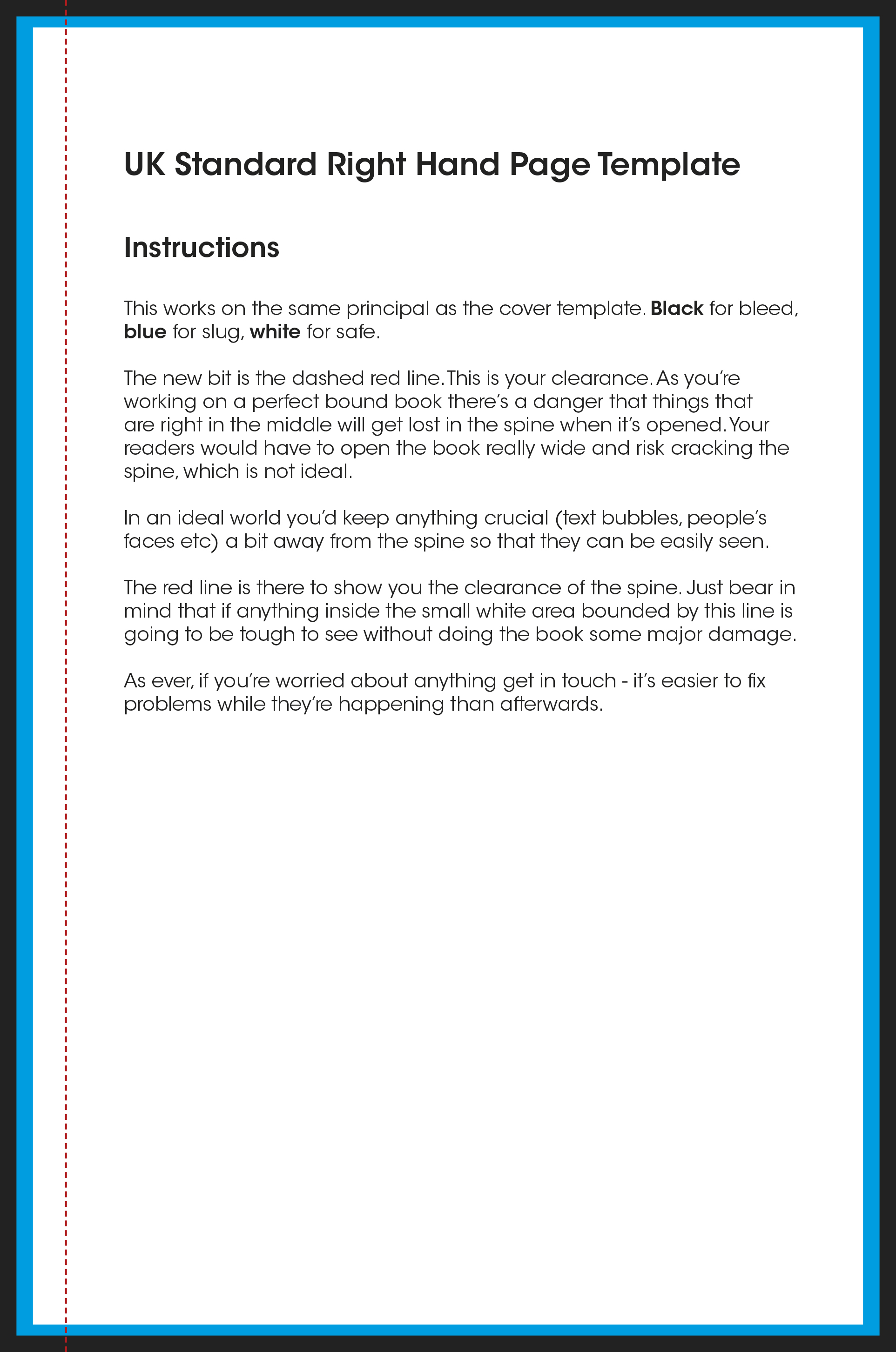 Uk Standard Perfect Bound Text Template Jpg Version